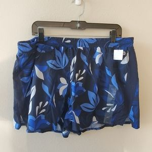 New Floral running shorts athletic plus XXL